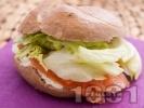 Рецепта Сандвич с пушена сьомга и сирене Крема